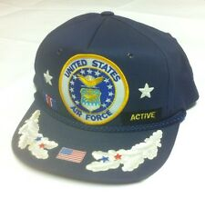 Vintage USAF Hat Snapback FUNKAP United States Air Force Cap Navy VTG Patches