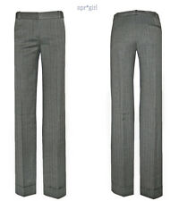 NEW CHLOE Net-a-Porter Herringbone Straight Leg Dress Pants SuIt Trouser 4 2 36