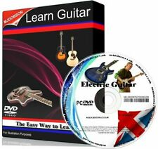 ELECTRIC GUITAR VIDEO TUTORIALS FOR BEGINNERS PC DVD .