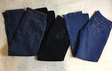 ND Weekend Jeans Women Size 10, 31-35 In New York Company Wrangler Lot Of 3