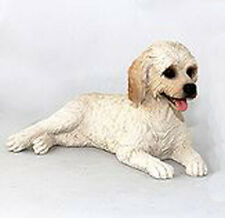 LABRADOODLE CREAM DOG Figurine Statue Hand Painted Resin Gift Pet Lovers