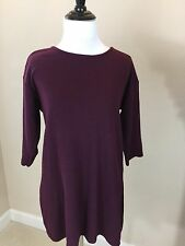 Women's TOPSHOP Burgundy Tunic Top 3/4 Length Sleeves - Size 4