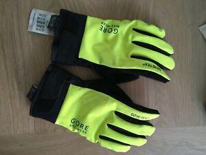 GORE BIKE WEAR Gloves GORE-TEX, Neon Yellow/Black, Size 8, L