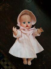 Vintage Vogue Babydoll Vinyl Drink N Wet Pink Dress And Bonnet