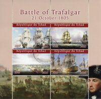 Chad Military & War Stamps 2020 CTO Battle of Trafalgar Nelson Ships 4v M/S