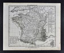 1847 Flemming Map - France - Paris Marseille Strassburg Nantes Bordeaux Orleans