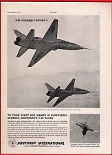 Old Magazine Advert ~ Northrop International T-38 Talon - USAF Training - 1960