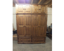 MASTER RANGE 4 DOOR WARDROBE 2 JUMPER DRAWERS SOLID PINE HANDMADE BESPOKE SIZES