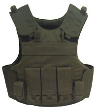 Einsatzweste Taktische Body Armor Weste Kevlar SK1, grün