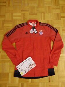 NWT FCB Bayern Munich FCB Football Soccer Adidas Anthem Jacket Men Large