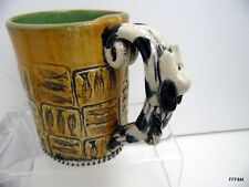 Handmade Dog Fish Dogfish Mug Stein Slab-Built 16oz Beer Coffee Ceramic Signed