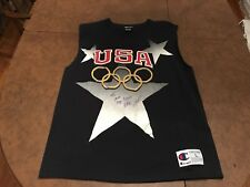 1992 Magic Johnson USA Olympic Dream Team Basketball Signed Jersey Shirt Lakers