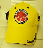 NEW YELLOW UNISEX COLOMBIA SOCCER CAP/HAT. GORRA SELECCION COLOMBIANA DE FUTBOL