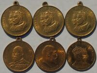 Collection of 6 Edward VII Medals Medalets tokens Beautiful HIGH GRADES & LUSTRE