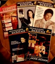 MICHAEL JACKSON BACKSTAGE lot de 5 magazines revue King Of Pop