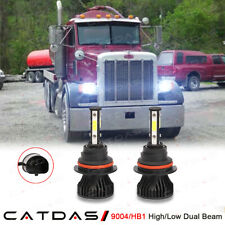 2x 9004 HB1 LED Headlight Conversion Kit Bulbs 6000K For Peterbilt 357 1990-2008