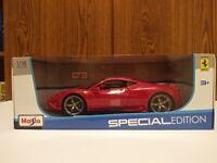 Maisto Ferrari 458 Speciale Special Edition 1:18 Brand New In Box