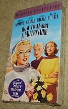 How To Marry A Millionaire Vhs, New & Sealed, Monroe, Grable, Bacall, A Classic!