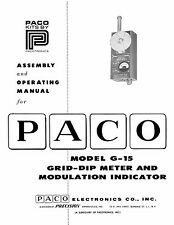 Paco G-15 G15 Grid-Dip Meter Kit Manual