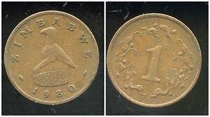 ZIMBABWE  1 cent 1980   ANM