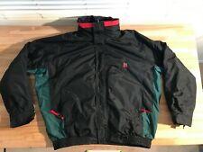 Serac VINTAGE 80s 90s Mens XL Ski Jacket Coat Red & Black Skiing Winter Liner
