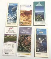 Lot Of 6 AAA Oregon  Washington State & City Travel Road Maps 1994 Outing Route