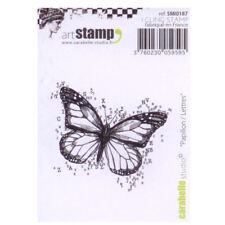 Carabelle Studio SMI0187 Sello Cling - Papillon/Lettres (Mariposa con letras)