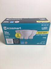 EcoSmart MR16 GU5.3 50W 12V Bright White Dimmable LED Light Bulb 3Pk Buy & Save!