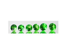 TSAVORITE GREEN GARNETS LOT 6 PIECES WOW GREEN 1.95 CTS TOTAL WEIGHT SEE VID