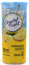 4 12-Quart Canisters Crystal Light Natural Lemonade Drink Mix