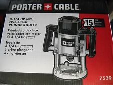 PORTER-CABLE 7539 3-1/4-Horsepower Speedmatic 5-Speed Plunge Router NEW Electric
