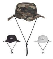 Quiksilver Bushmaster Bucket Hat - Black, Camo, Steel Grey - Brand New