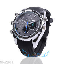 Waterproof HD 1080P 32GB Spy Watch Night Vision Hidden Camera Security Camcorder
