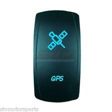 BLUE 2 POSITION ROCKER SWITCH LASER ETCHED 20A 12V GPS