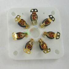 4pc 7pin Gilded Ceramic vacuum tube socket gold for 6C33 832 829 FU29 826 audio
