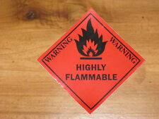 """HIGHLY FLAMMABLE"" STICKER, CAUTION, SAFETY, SECURITY, WARNING,FIRE EXTINGUISHER"