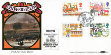 5 OCTOBER 1983 BRITISH FAIRS BENHAM BLS 6 LE FIRST DAY COVER CHIPPERFIELD CIRCUS