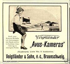 Voigtländer Avus Reklame von 1914 Kamera Lederhose Seppelhut Berge Gaisenpeter