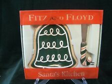 Fitz & Floyd Santa's Kitchen Bell Snack Plate & Knife