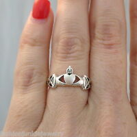 Claddagh Ring - 925 Sterling Silver - Celtic Jewelry Friendship Irish Ring NEW
