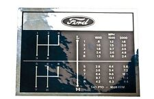 D-F752A Shift Pattern Hood Decal Set for Ford Tractors