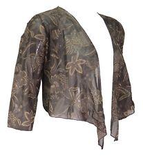 Ladies 16 - 26 New Mesh / Lace Bolero Shrug Tops Crop Cardi Mesh Jacket Cover