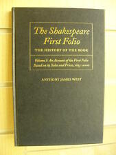 The Shakespeare First Folio: The History of the Book Volume I - Anthony J. West