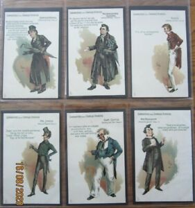 Literary, Charles Dickens, set of 6, Characters from Dickens, Tucks, Kyd