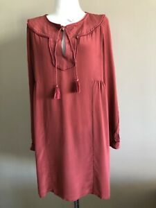Sezane silk tunic dress, size 42, Aus 6-10, pre loved