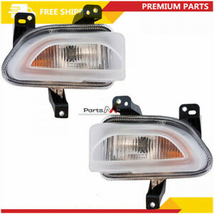 New Front LH & RH Turn Signal Parking Light Lamps For 2015-2018 Jeep Renegade