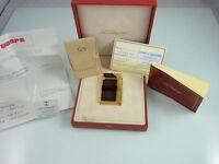 S.T. DUPONT LINIE D CHINALACK MIT GOLDSTAUB KLEINES MODELL 54x32 mm BOX PAPIERE