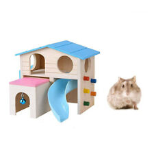 1pc Hamster House Ladder Slide Funny Climbing Bell House Wooden Hideout