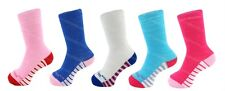 5 Pairs Girls Boys Childrens Cotton Socks Lycra Coloured Short Ankle Fashion Striped Sole 4 - 7