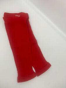1 pr Women's Ribbed Compression Leg Sleeves - Vibe! SAMPLES - 8-15mmHg - S/M